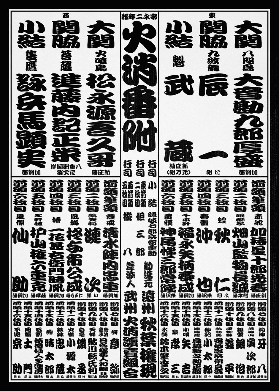 安永二年版火消番付 | 今村翔吾 ...